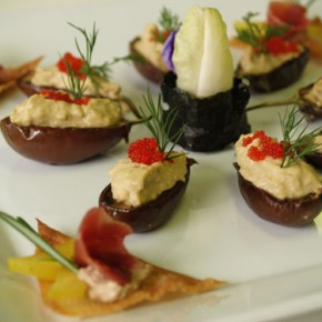 Eggplant Caviar  (Eggplant with tobiko caviar)